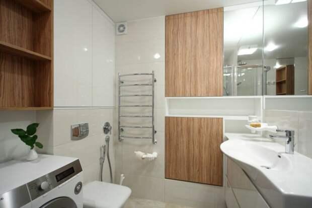 ванная в однокомнатной квартиры 35 кв. м.