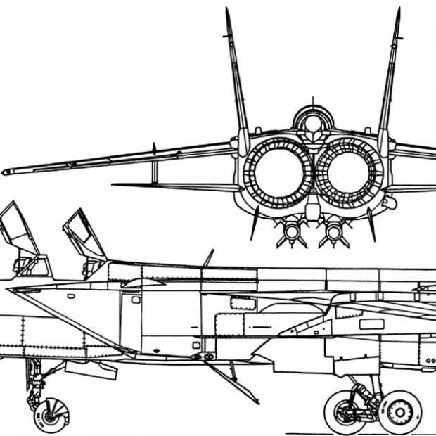 МиГ-31 первых серий. Схема 1.