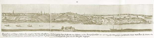 Панорама Торжка из альбома австрийского дипломата и путешественника XVII века Августина Мейерберга