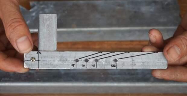 Инструмент для разметки профильных труб