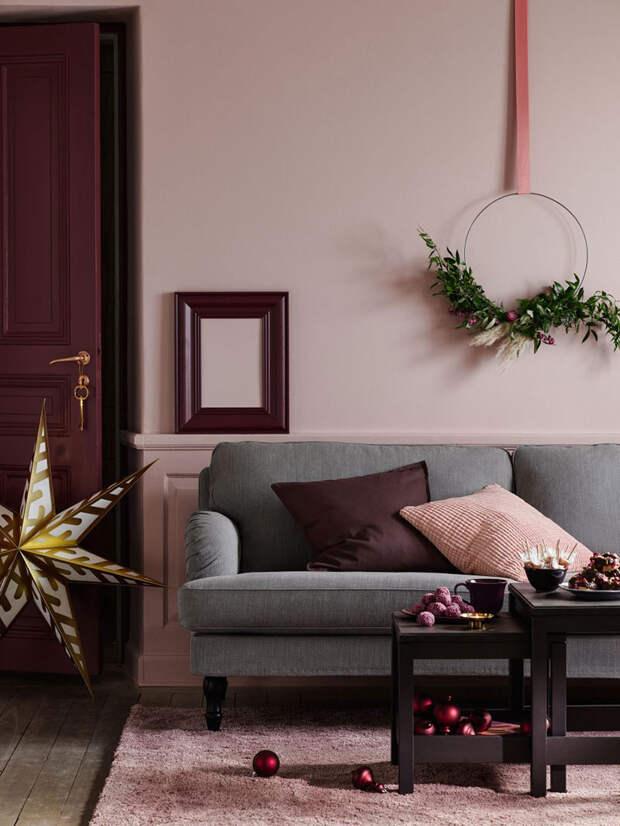 Красивое Рождество в розовом цвете от Ikea