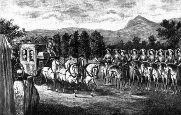 Крымская  рота «Амазонок» для Екатерины II