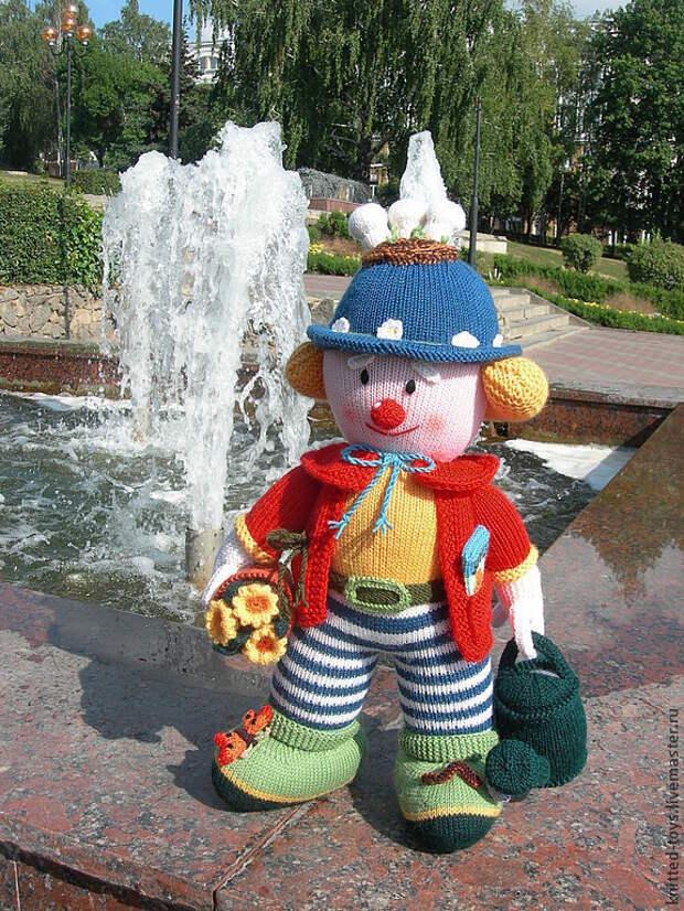 Интерьерная  кукла Клоун-садовник, Мягкие игрушки, Липецк,  Фото №1