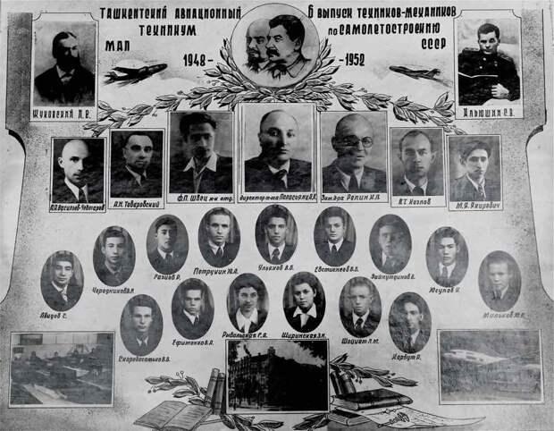 авиационный техникум, виньетка в альбоме, ташкентский авиационный техникум