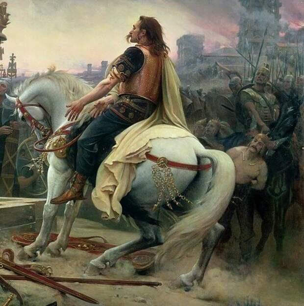 Галльский вождь Верцингеторикс на картине Лайонела Ройера 1899 года.