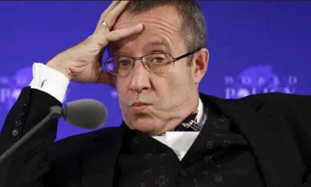 Сначала экс-президент Эстонии Ильвес призвал не пускать россиян в ЕС, а потом психанул от полученных комментариев
