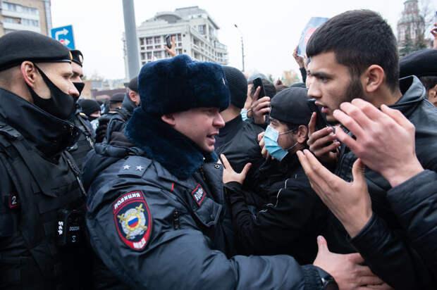 В Москве разогнали оскорблённых мусульман