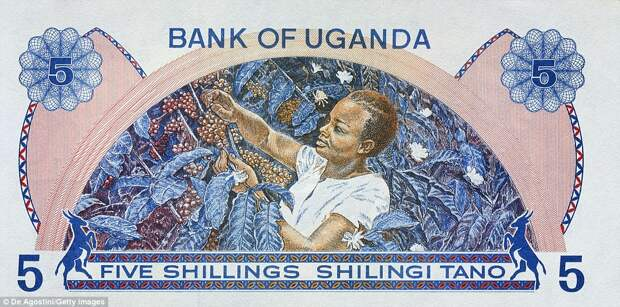 5 угандийских шиллингов