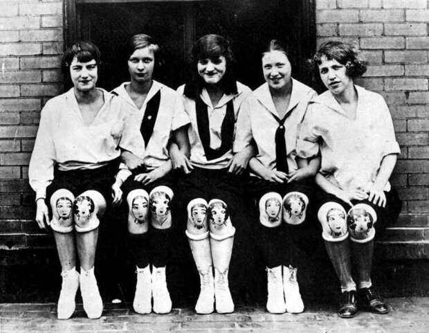 Раскрашенные колени – забытый модный тренд 1920‑х годов