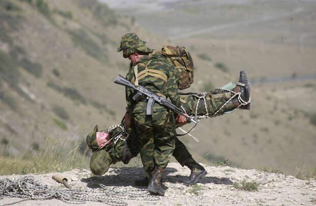 Эвакуация пострадавшего около Владикавказа