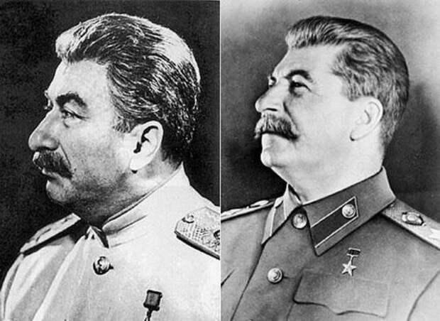 Слева - Дадаев. Справа - Сталин.