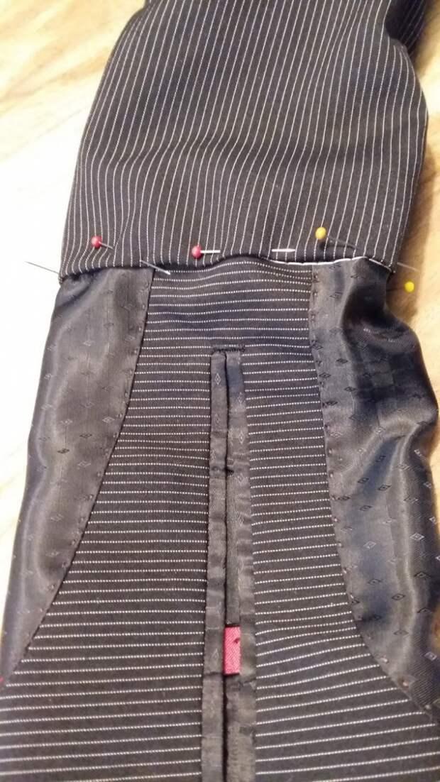 Переделка мужского пиджака