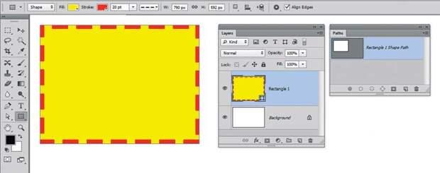 Работа с вектрными объектами в Фотошопе