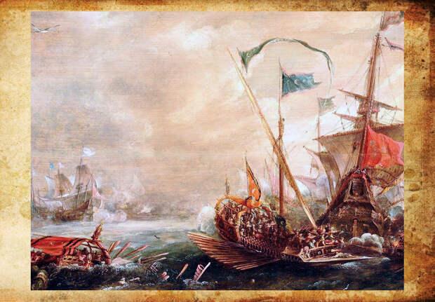 Аарт Ван Антум Атака берберских пиратов на французское судно 1615