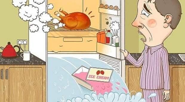 Почему нельзя горячее ставить в холодильник - что будет?