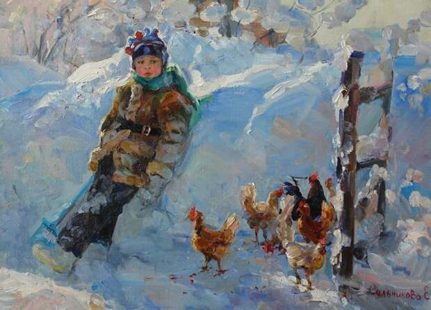 ПОСИДЕЛКИ. Творчество молодой художницы Елены Сальниковой
