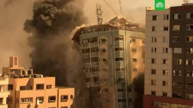 Израильские ракеты разрушили 11-этажное здание в секторе Газа