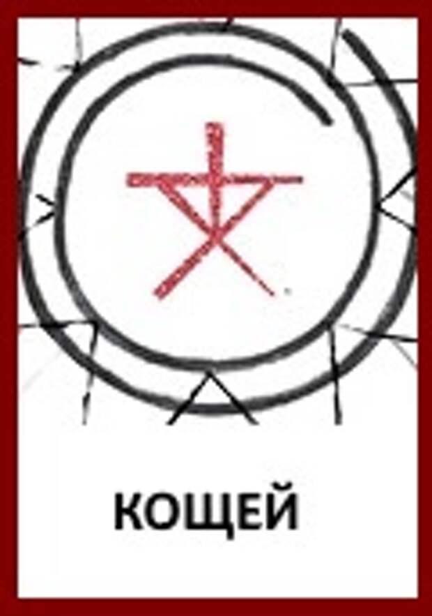Славянские Боги: Знак Бога Кощея «Кощюн»