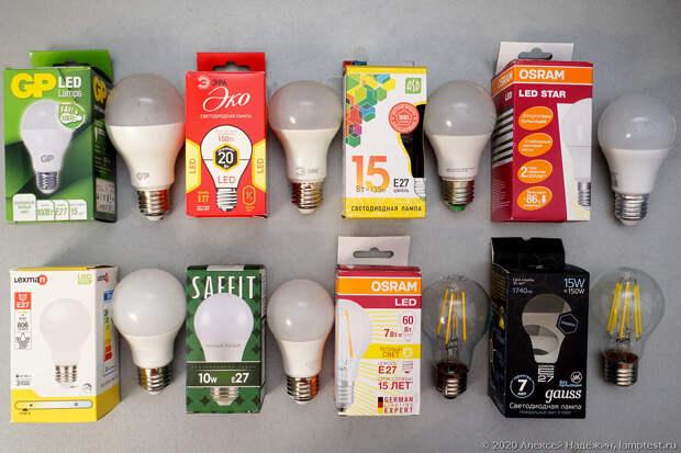 Тест старения светодиодных ламп