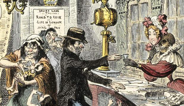 3 безумных факта о том, как дешевый джин чуть не погубил Лондон