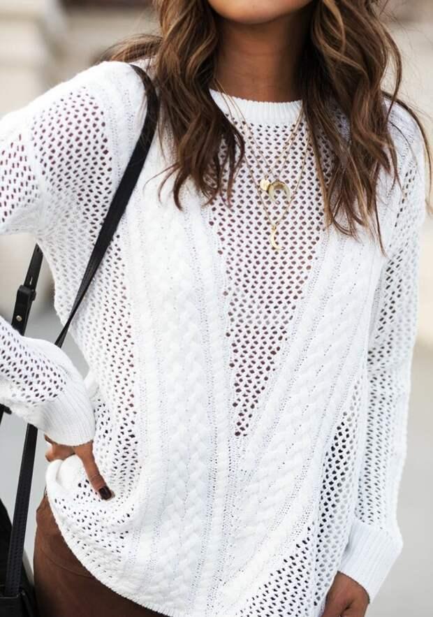 Свитер на выход: 12 стильных и нарядных образов со свитером