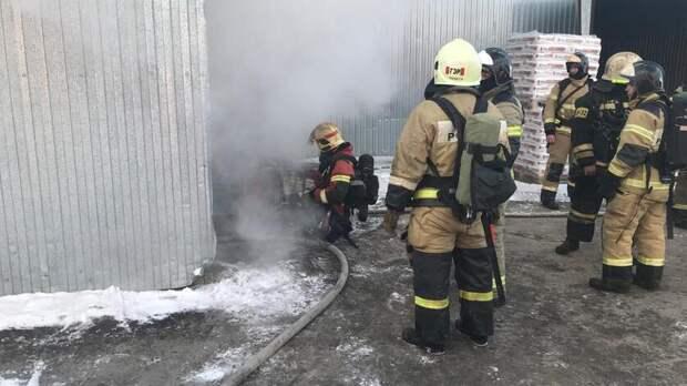 Склад загорелся на Таганрогской в Ростове