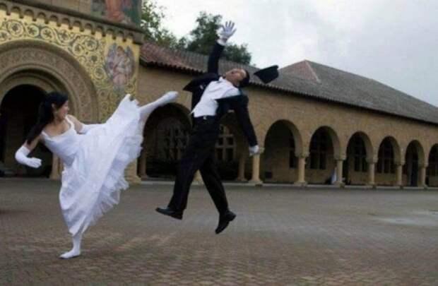 Безбашенные свадебные снимки