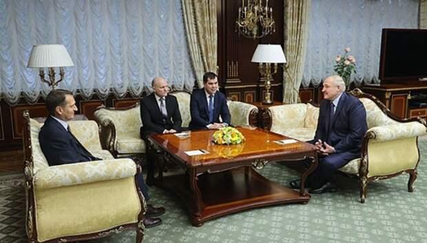 Встреча Александра Лукашенко с директором службы внешней разведки России Сергеем Нарышкиным. Фото: president.gov.by