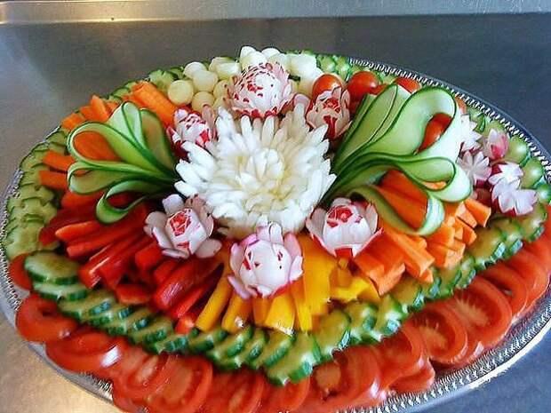 Овощная нарезка. Оформляем красиво!