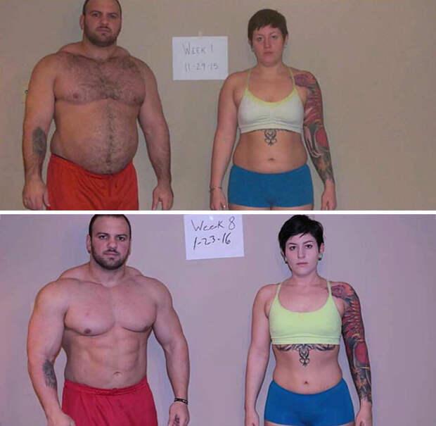 Трудно поверить, что между этими снимками прошло лишь два месяца! диета, лишний вес, похудение