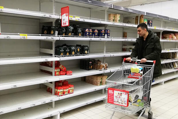 Россиянам предложили выдавать продуктовые карточки в период пандемии