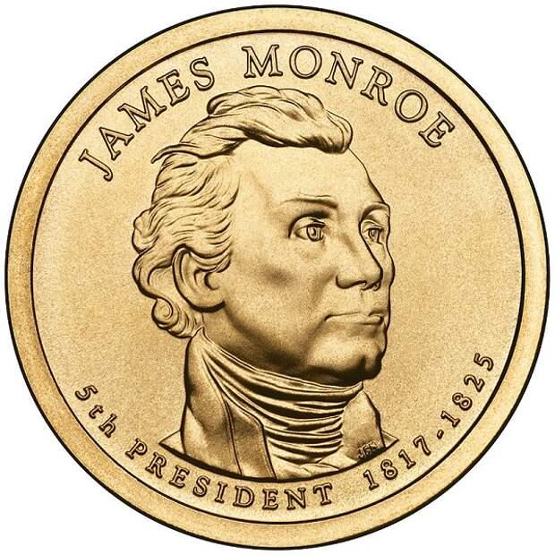 Изображение Монро на долларовой монете.