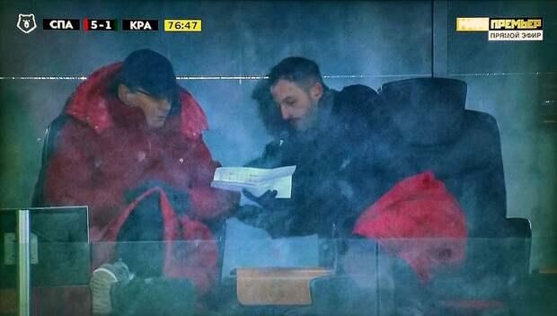 Федун раскрыл, что было на бумажке, которую ему показывал Тедеско во время матча «Спартак» — «Краснодар»
