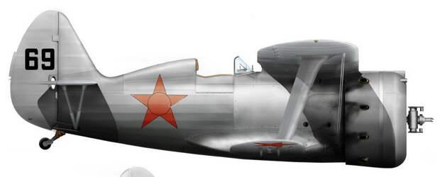 И-153 хвостовой №69, совершивший вынужденную посадку на аэродроме Лиепая. На заднем плане виден брошенный неисправный самолёт связи У-2. Ниже реконструкция внешнего вида истребителя, выполненная художником Игорем Злобиным - «Сталинские соколы», которые никуда не улетали   Warspot.ru