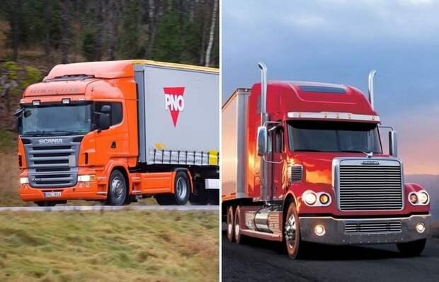 Почему у американских грузовиков есть длинные капоты, а у отечественных – нет