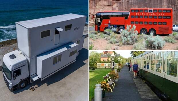 Хостелы на колесах: Как можно переделать старый автобус, грузовик и подвижной состав