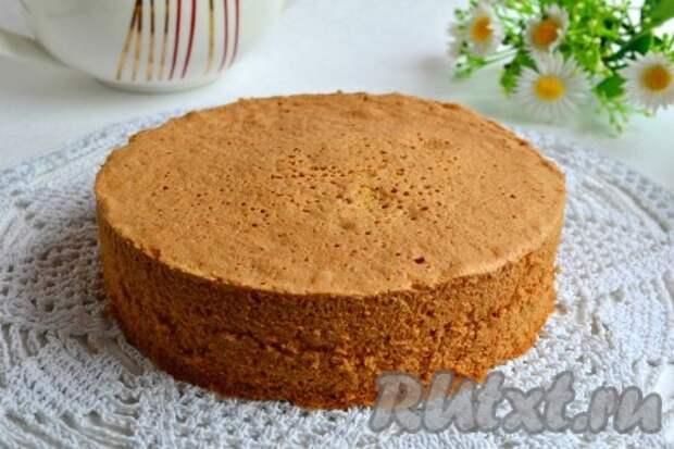 Рецепт простого бисквита для торта