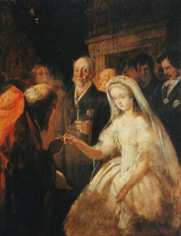 Картина «Неравный брак» Василия Пукирева: кто эта невеста и как сложилась ее судьба