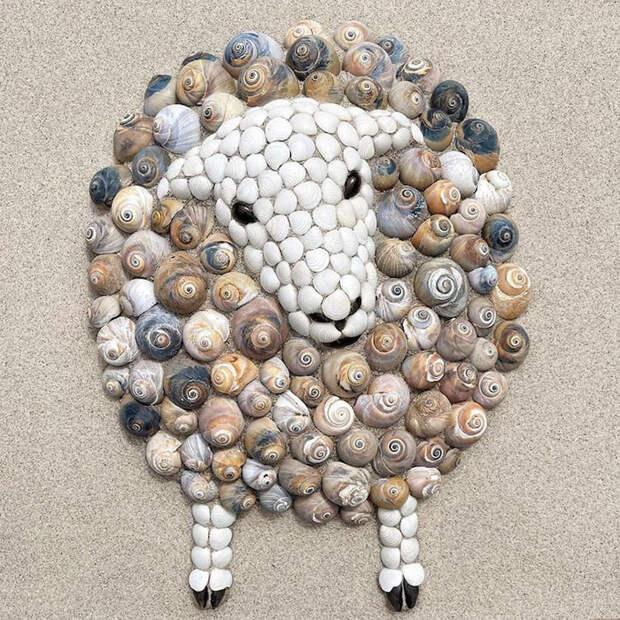 Невероятные композиции из ракушек