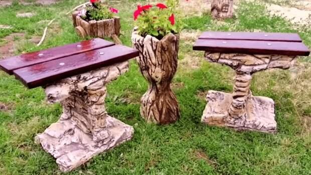 Эксклюзивная садовая мебель из того, что под рукой