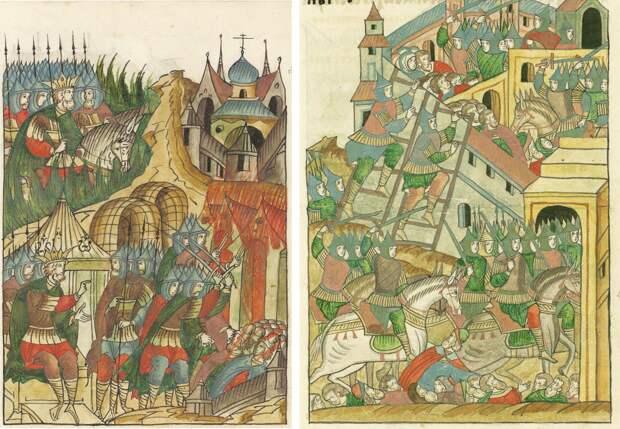 Почему Батый и Мамай изображены на средневековых миниатюрах в коронах?