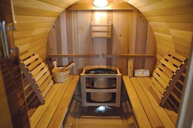Отличный вариант для отдыха и расслабления: баня-бочка на участке