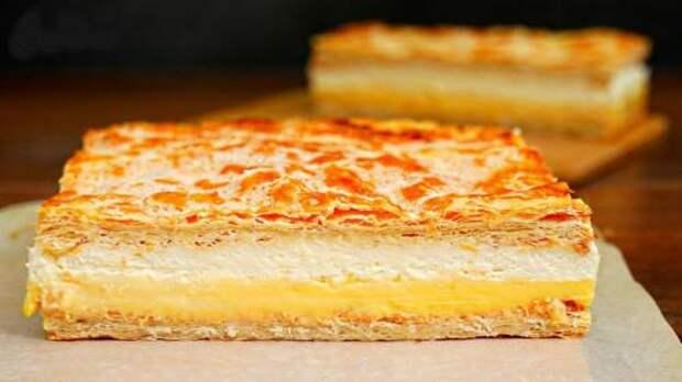 Для всех любителей «Наполеона»! Ленивый торт «Кремовка»