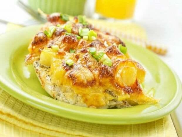 Запечённый ананас с сыром