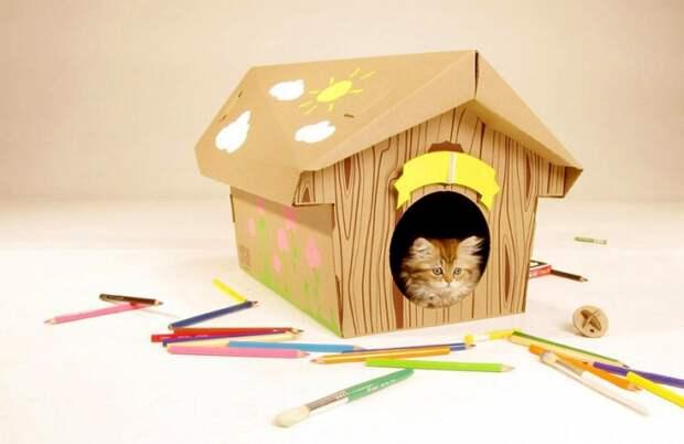 Картонные домики для кошек (трафик)