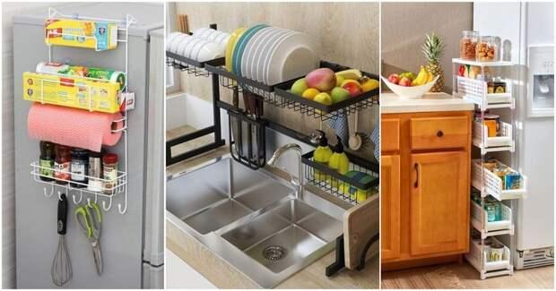 Практичные идеи для кухни, позволяющие сэкономить пространство