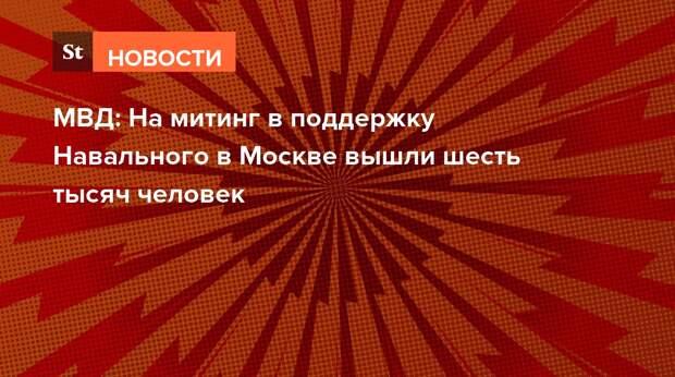 МВД: На митинг в поддержку Навального в Москве вышли шесть тысяч человек