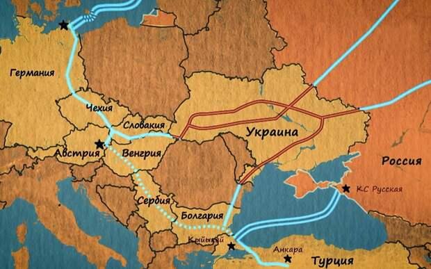 Россия замыкает Европейское газовое кольцо