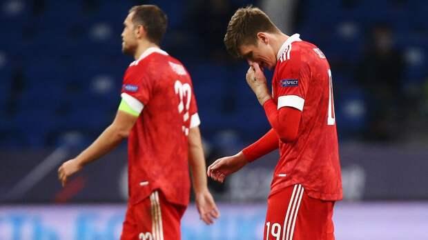 Соболев пропустил вечернюю тренировку сборной России