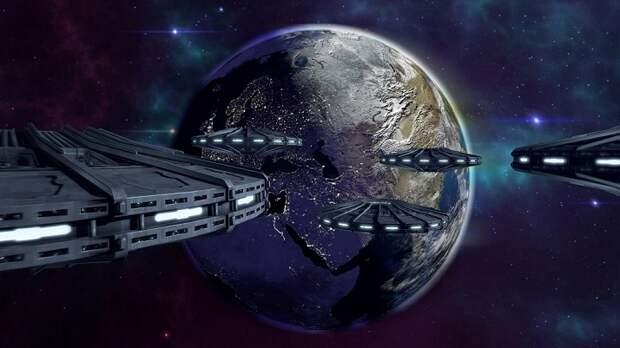 Камера МКС снова запечатлела гигантский флот НЛО (ВИДЕО)